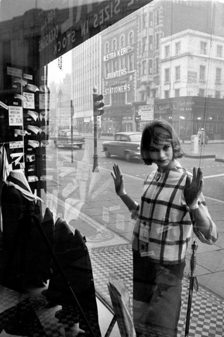 Jean Shrimpton, Edgware Road, 1960 - Brian Duffy (Black and White Photography) Signed by Duffy  Authenticated by Chris Duffy, executor of the estate, stamped with embossed archive stamp and the photographer's archive ink stamp and numbered on