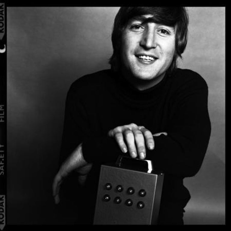 John Lennon, 1965 - Brian Duffy (Portrait Photography) Modern silver gelatin print Signed and embossed with archive stamp below mount Archive ink stamp and numbered 1/50 in reverse  18 x 18 inches From an edition of fifty Exhibited: Duffy,