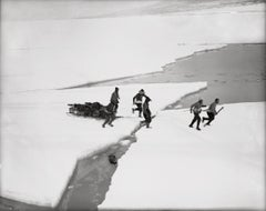 Western Party Crossing the Ice to Ship, March 1912