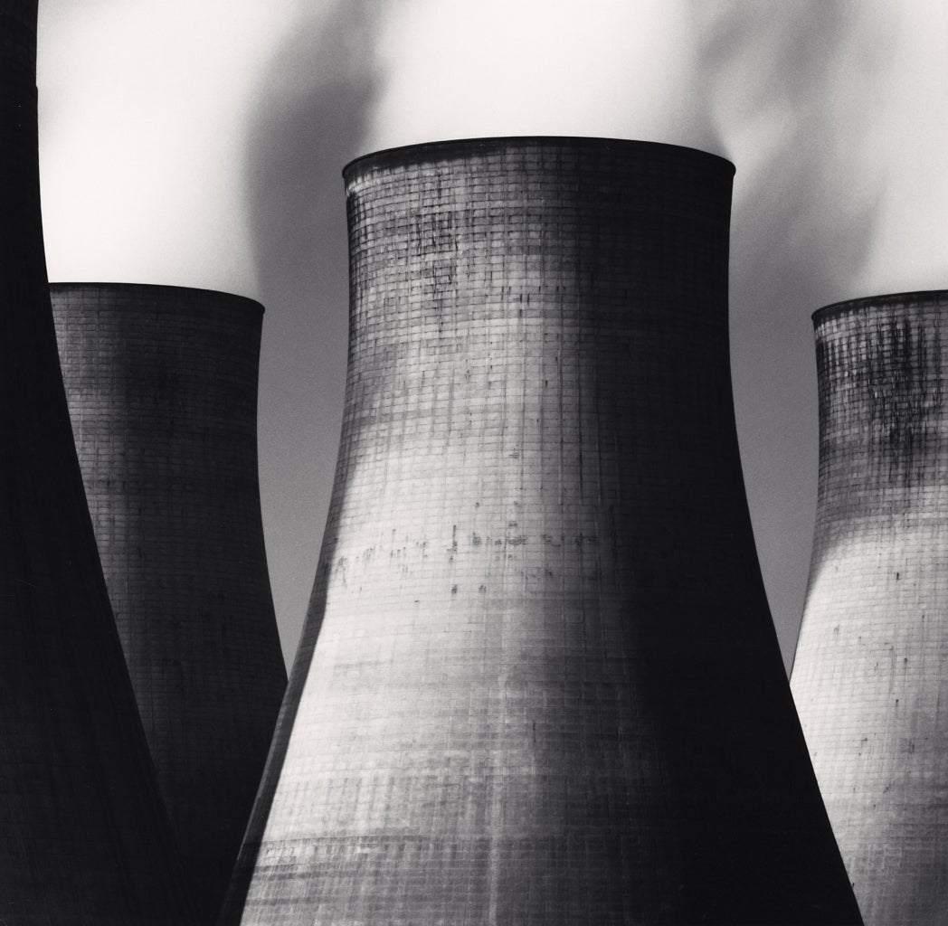 Michael Kenna Black and White Photograph - RATCLIFFE POWER STATION, STUDY 46, NOTTINGHAMSHIRE, ENGLAND, 2003