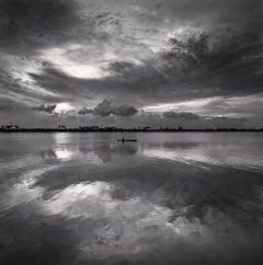 Single Boat, Kerala, Backwaters, India, 2008  - Michael Kenna (Black and White)