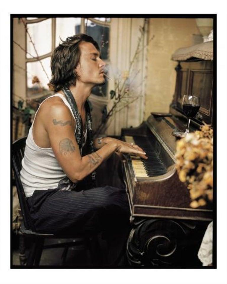 Mark Seliger Portrait Photograph - Johnny Depp, Madame Simon Residence, France, 2003