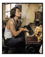 Johnny Depp, Madame Simon Residence, France, 2003