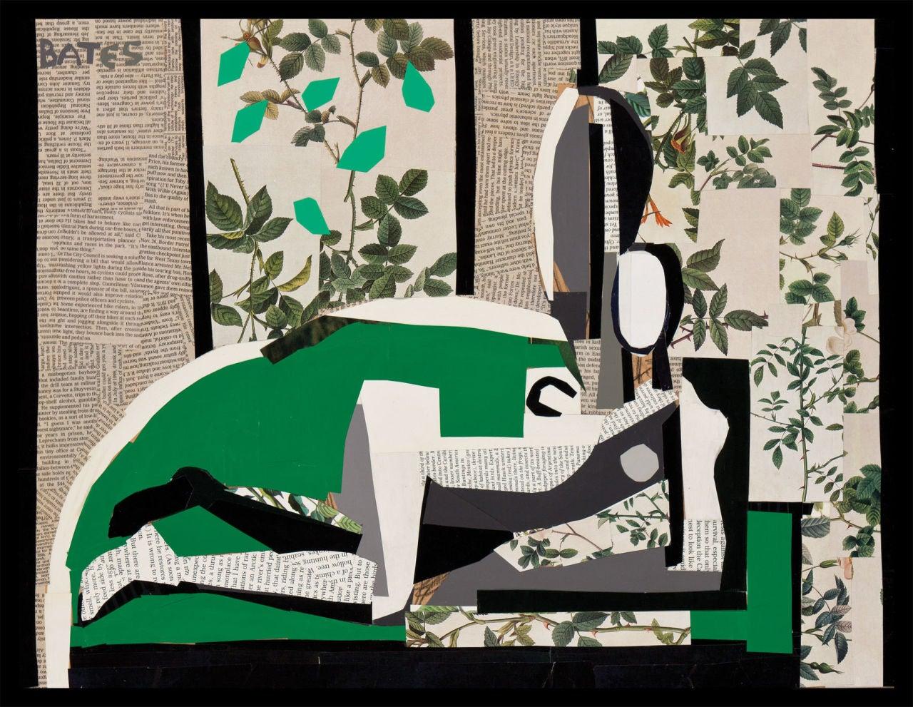 David Bates b.1952 Figurative Painting - Reclining Nude