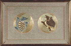 Embroidered Roundels of Turtles