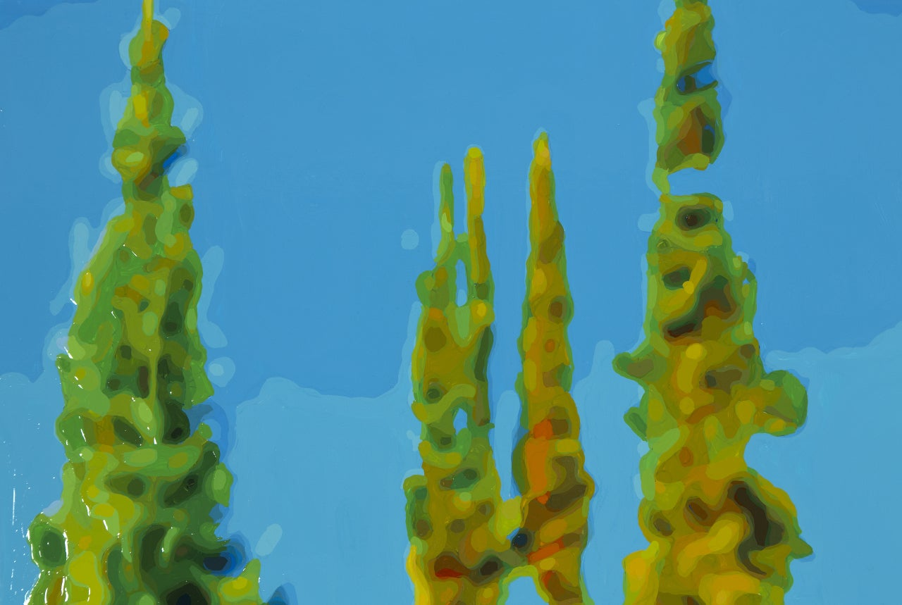 Tall Trees - Painting by Timothy Tompkins