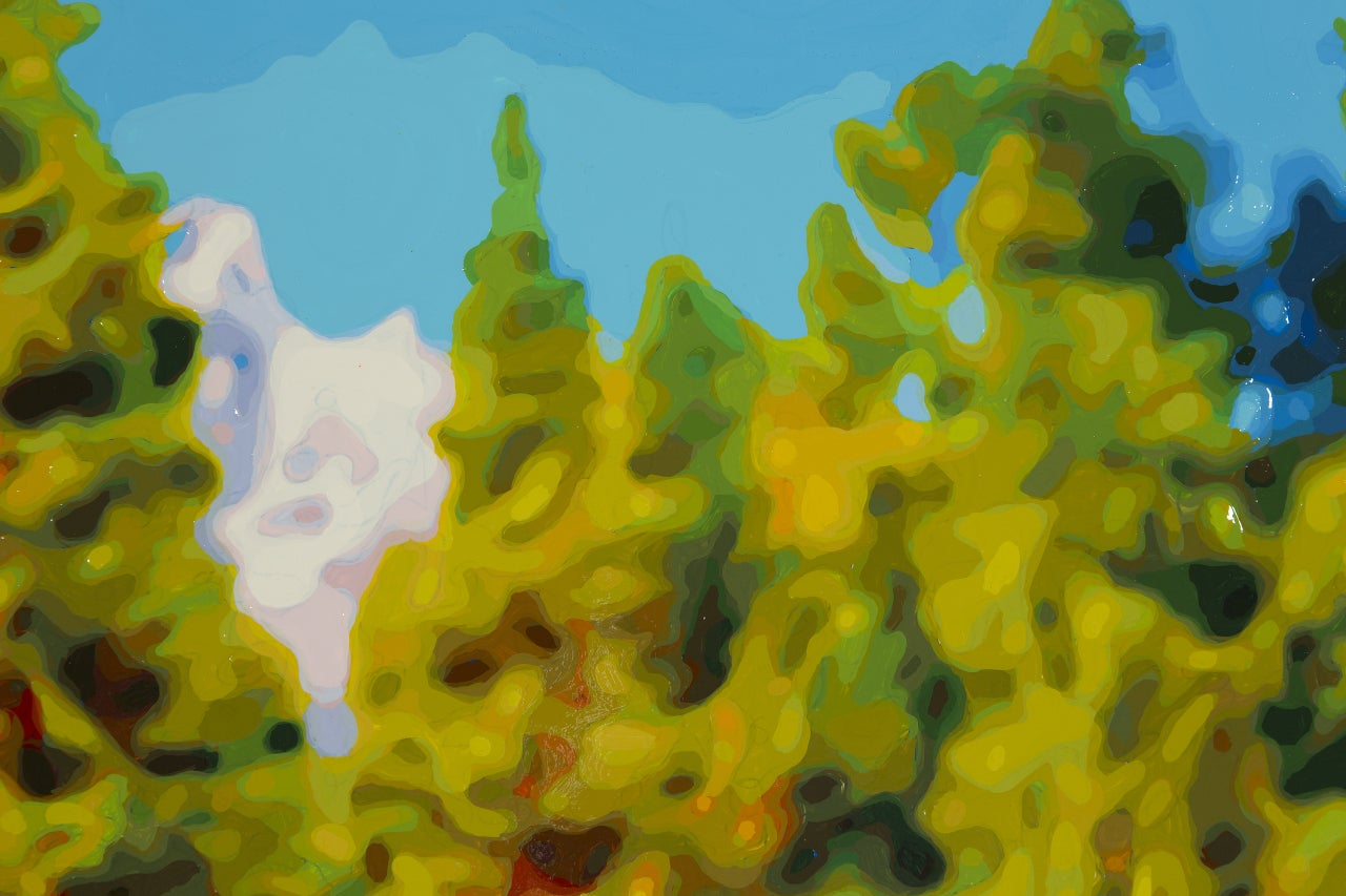 Tall Trees - Contemporary Painting by Timothy Tompkins