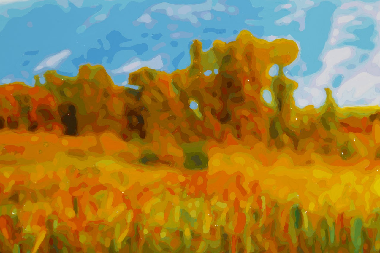 Rolling Meadow - Contemporary Painting by Timothy Tompkins