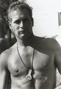 "Paul Newman in the motion picture ""Cool Hand Luke"", black and white portrait"