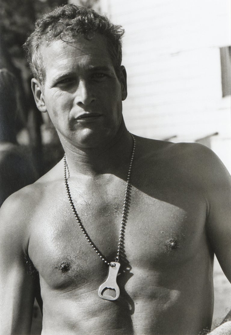 """Lawrence Schiller Black and White Photograph - Paul Newman in the motion picture """"Cool Hand Luke"""", black and white portrait"""