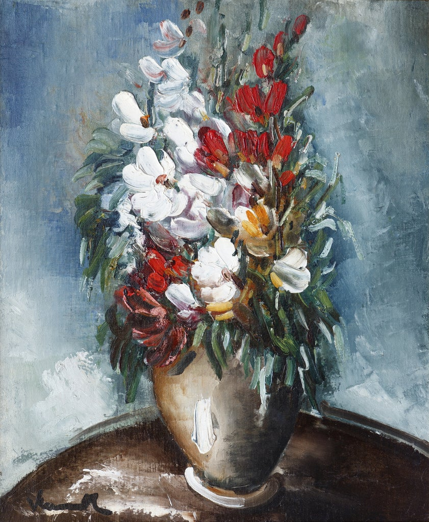 maurice de vlaminck bouquet de fleurs dans un vase painting at 1stdibs. Black Bedroom Furniture Sets. Home Design Ideas