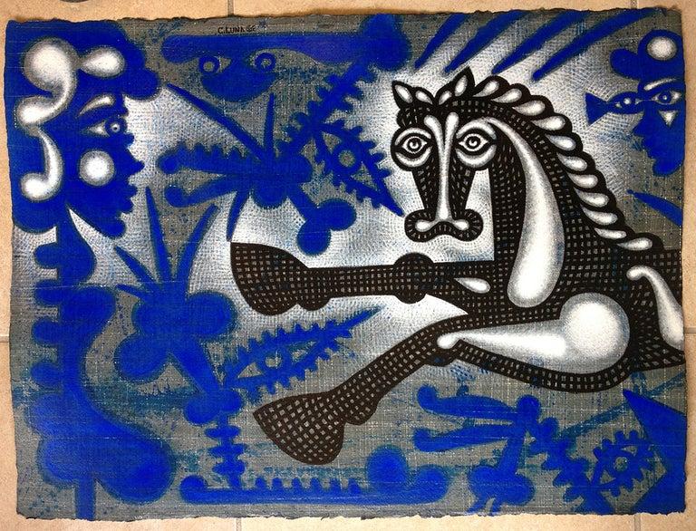 Carlos Luna Animal Painting - Sin titulo