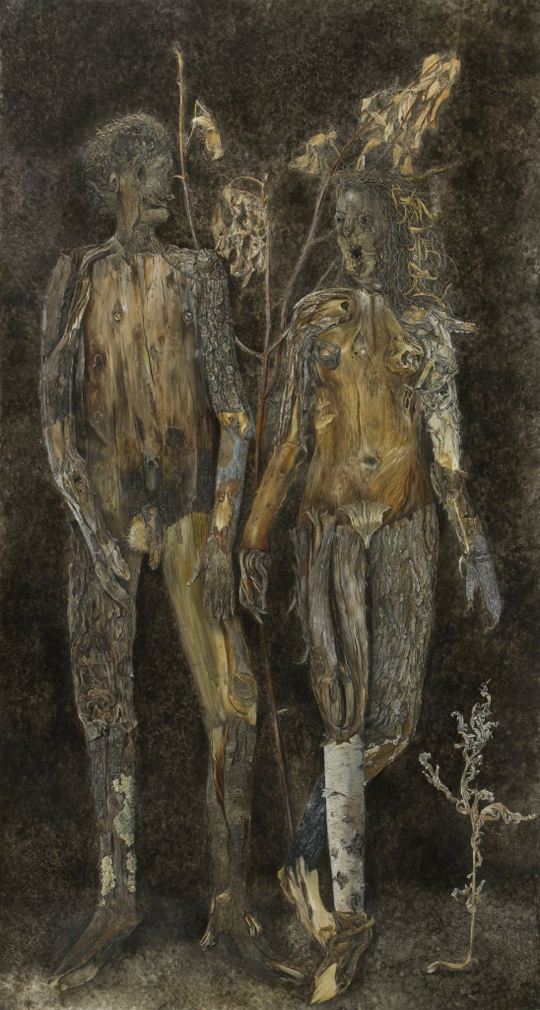Constance Mallinson Abstract Painting - Couple