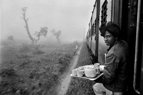 Raghu Rai Tea Vender Delhi Mumbai Train At 1stdibs