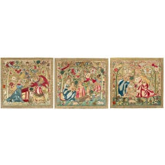 Embroidered Panels:  Annunciation, Nativity, Adoration of the Magi