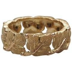 Mario Buccellati Gold Leaf Ring