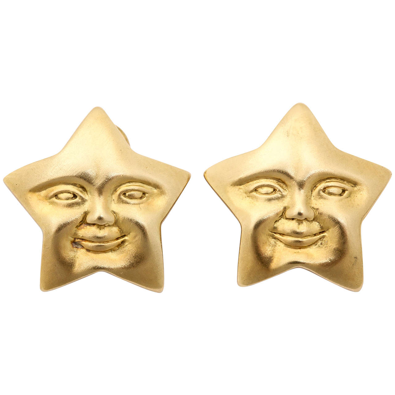 Celestial Star Gold Earrings