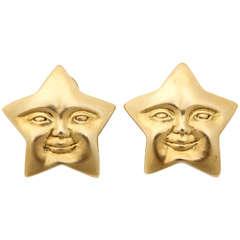 Celestial Star Gold Earrings