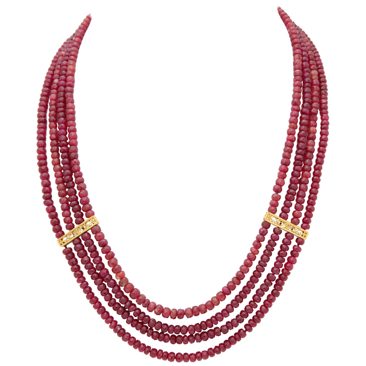 stunning ruby bead necklace at 1stdibs