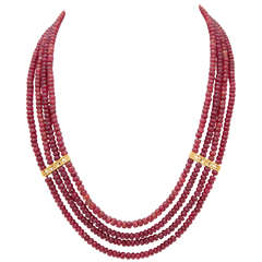 Stunning Ruby Bead Necklace