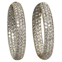 Gorgeous Pave Diamond Hoop Earrings