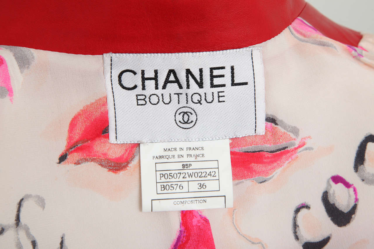 Chanel Rare Red Cropped Leather Jacket 7
