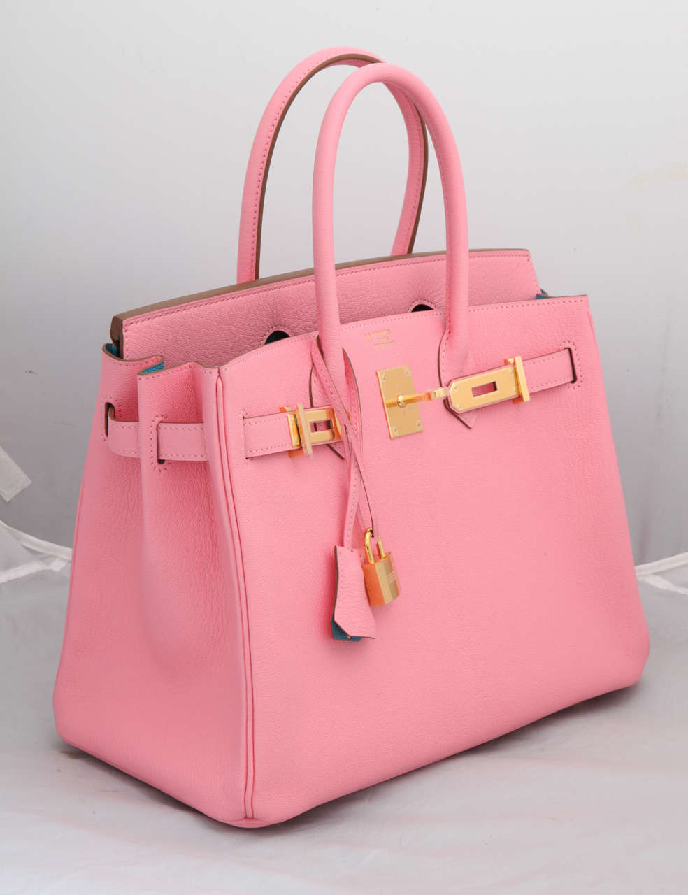 """Hermes Rose Confetti Pink """"Special Order"""" Chevre Birkin with Horseshoe Stamp 2"""