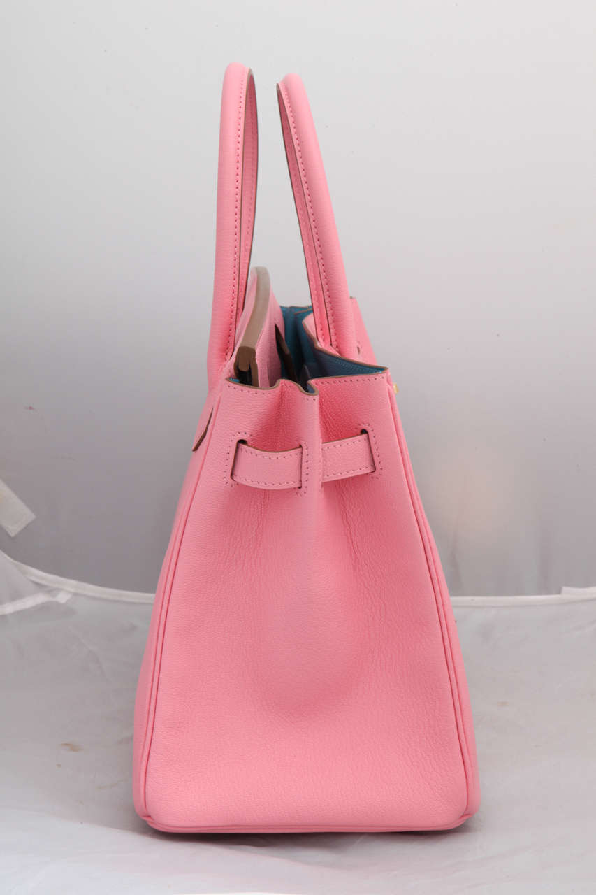 """Hermes Rose Confetti Pink """"Special Order"""" Chevre Birkin with Horseshoe Stamp 3"""