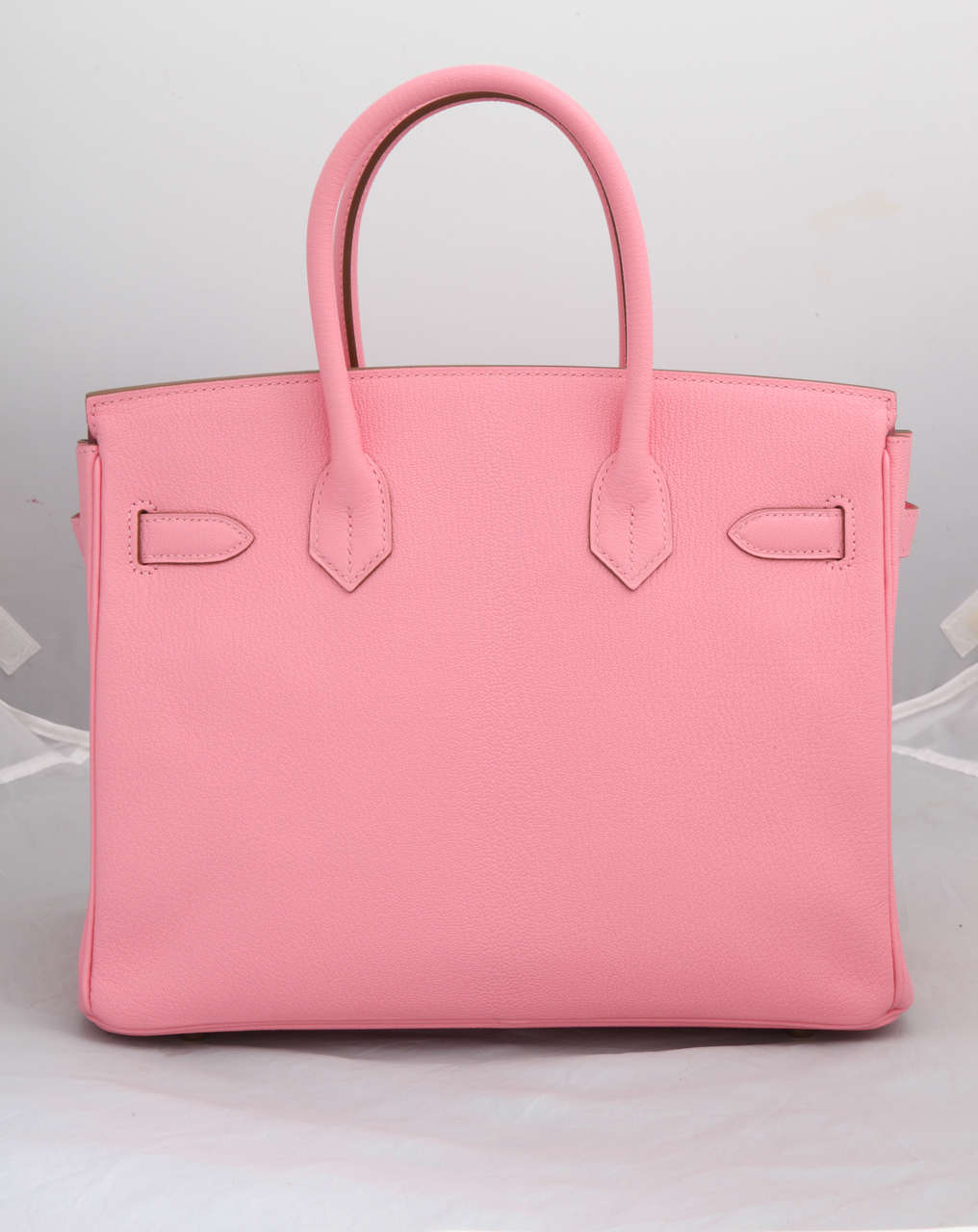 """Hermes Rose Confetti Pink """"Special Order"""" Chevre Birkin with Horseshoe Stamp 4"""