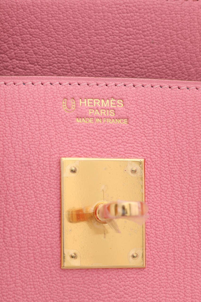 """Hermes Rose Confetti Pink """"Special Order"""" Chevre Birkin with Horseshoe Stamp 7"""