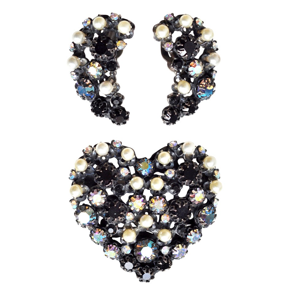 brooch and earrings by elsa schiaparelli at 1stdibs