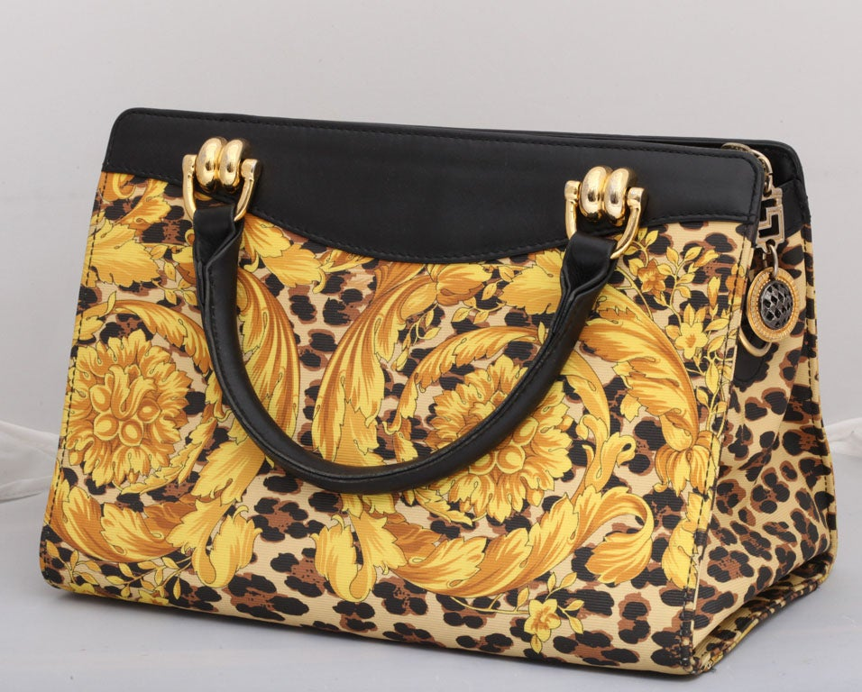 Gianni Versace Baroque Print Bag 4