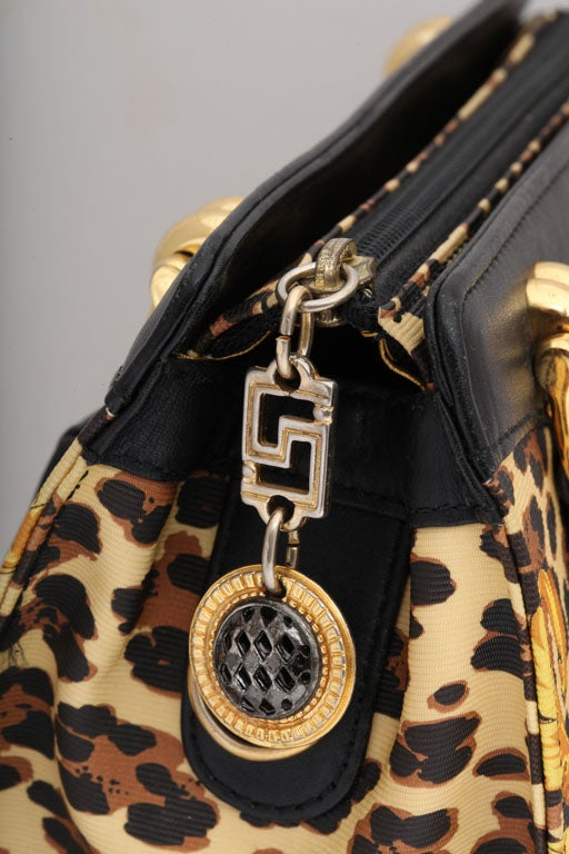 Gianni Versace Baroque Print Bag 7