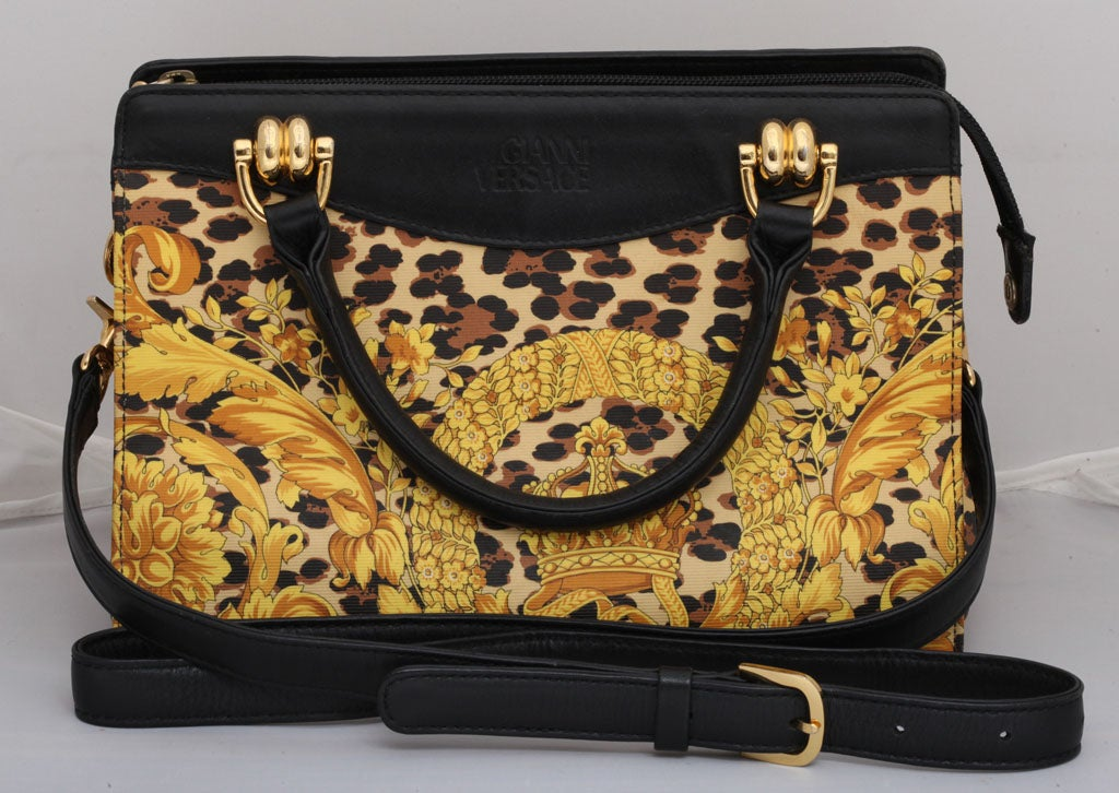 Gianni Versace Baroque Print Bag 2
