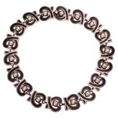 Sterling Enamel Heart Necklace by Margot