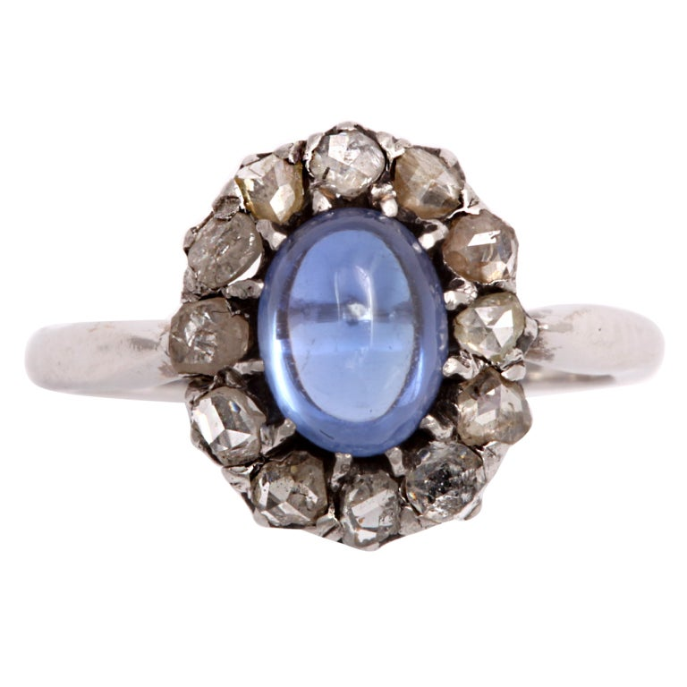 simple brilliance sapphire ring at 1stdibs