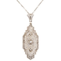 Art Deco 'Lighter than Air' Diamond Pendant