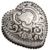 Sterling Silver Heart Shaped Trinkets Box