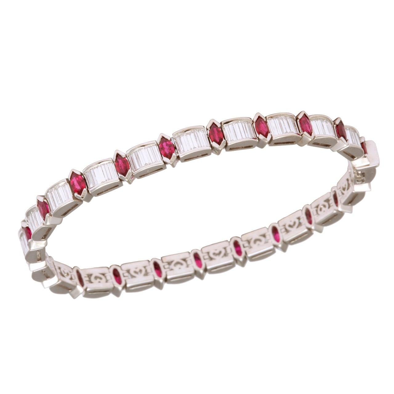 kurt wayne ruby bracelet at 1stdibs