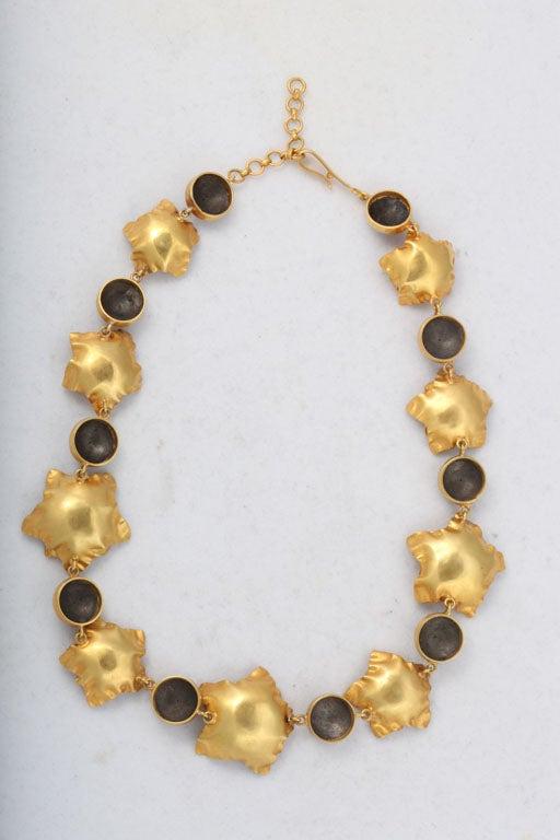 Gold Silver Flower Choker or Bracelet For Sale 2