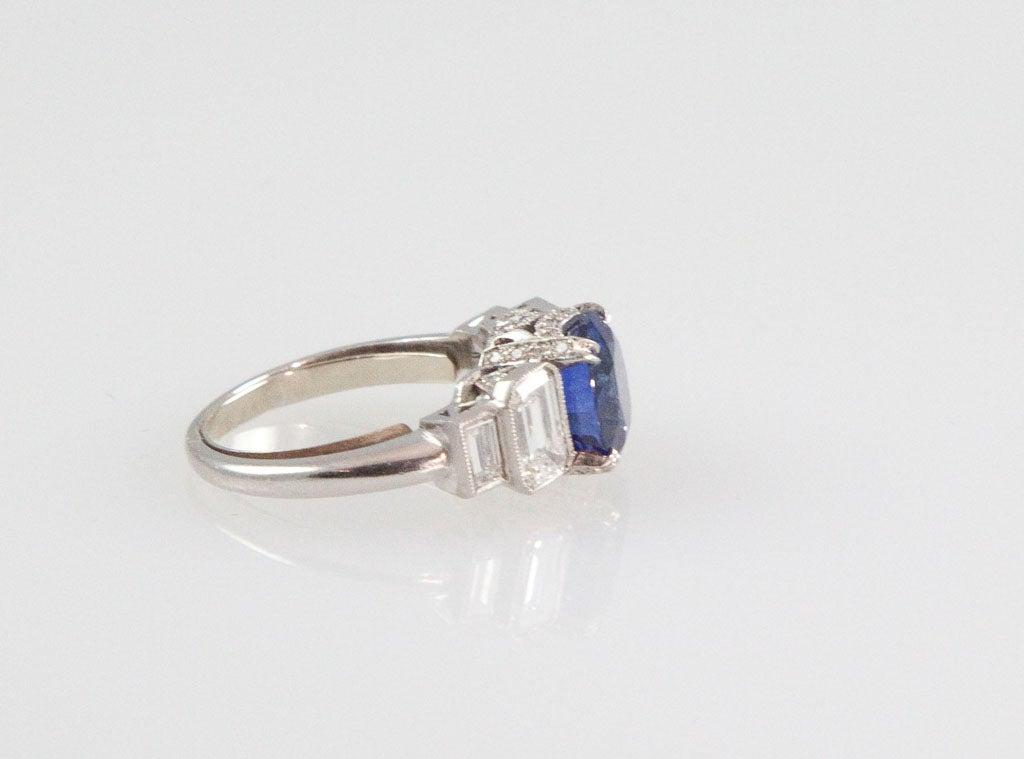 ceylon sapphire platinum engagement ring for