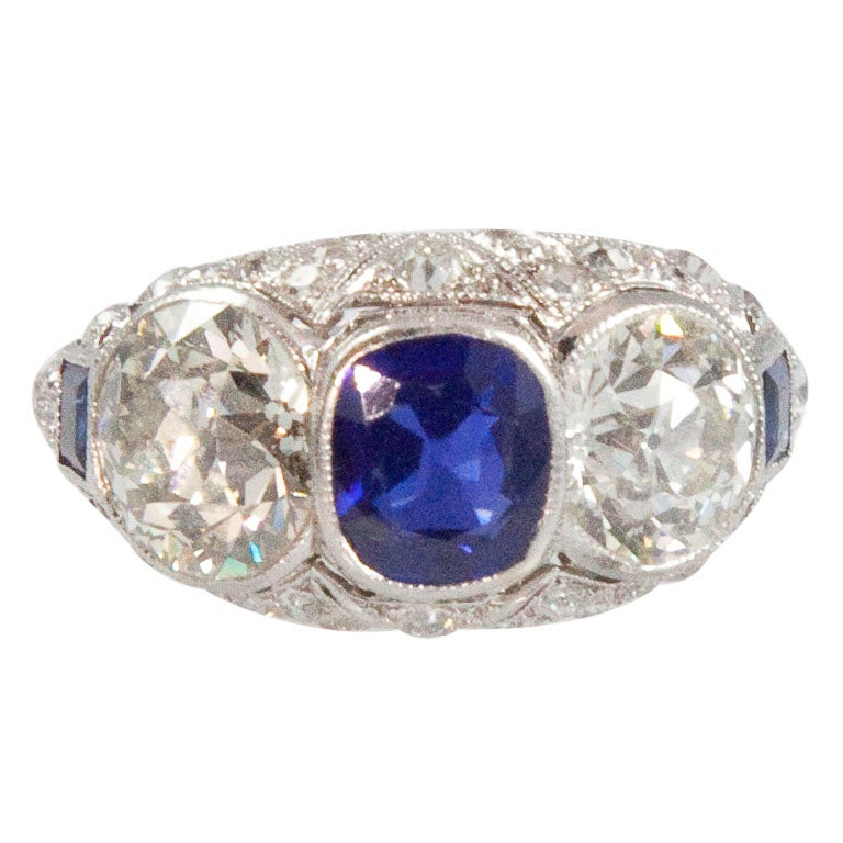 edwardian sapphire platinum ring for sale at 1stdibs