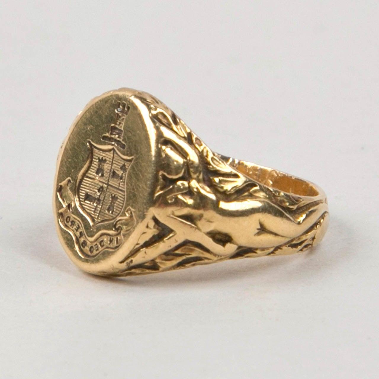 Men S K Signet Ring Antique