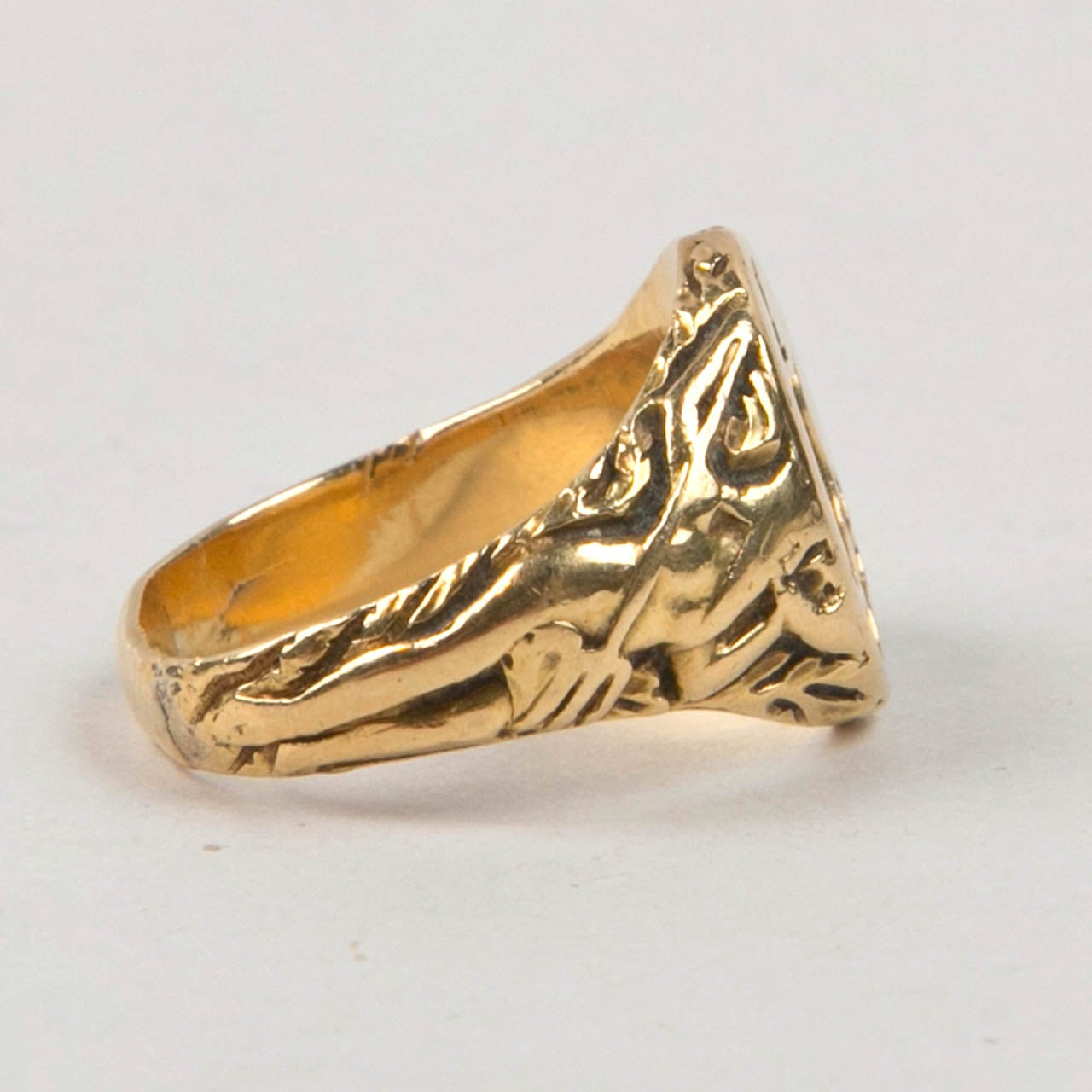 and co antique gold signet ring at 1stdibs