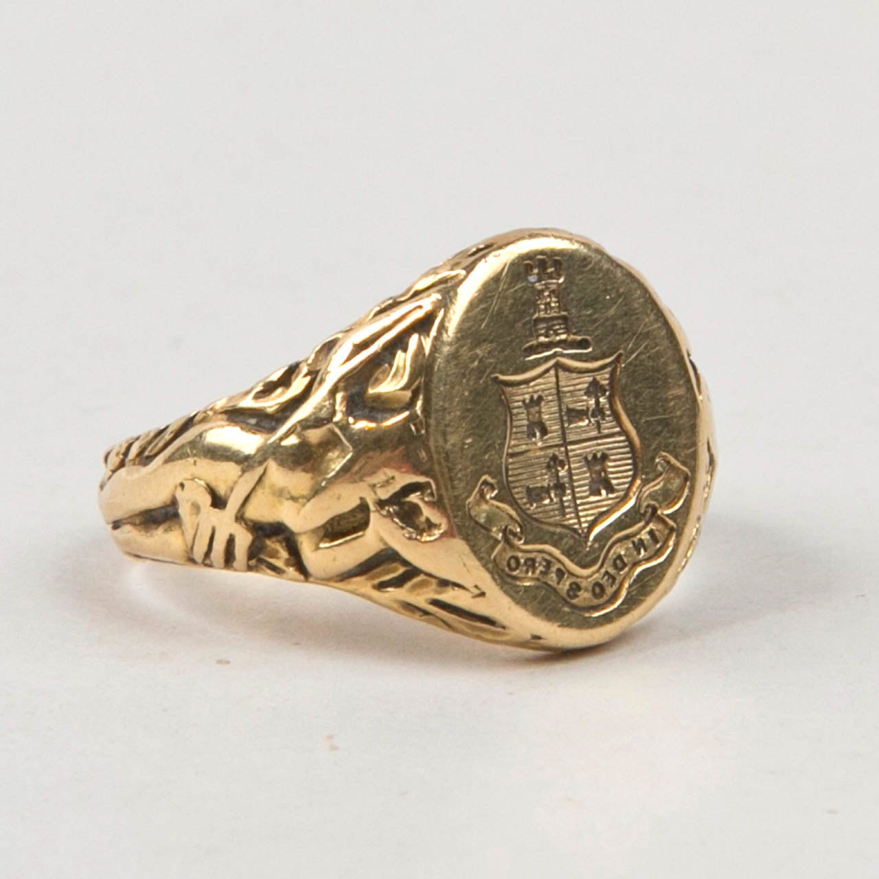 Tiffany And Co Antique Gold Signet Ring At 1stdibs