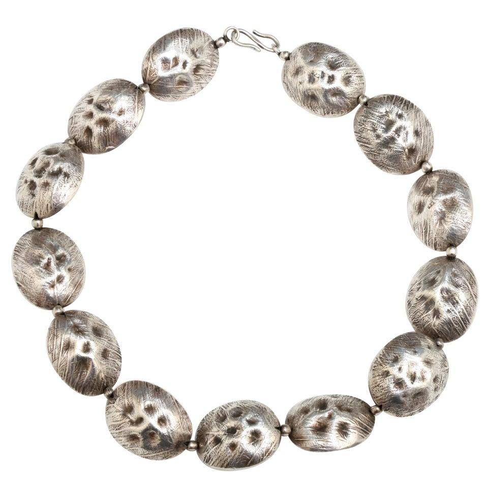 Unique Sterling Silver Cocoa Bean Necklace