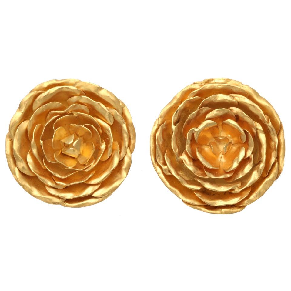 Peonies Earrings 1