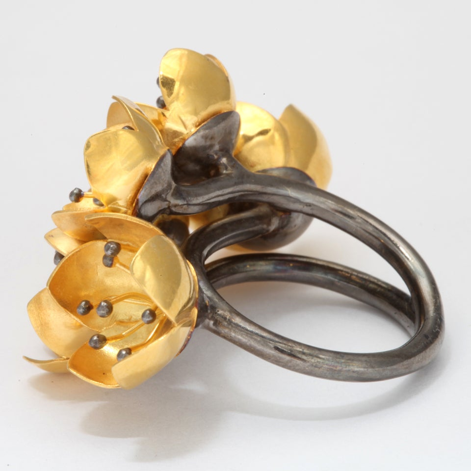 Women's Buttercup Flower Ring For Sale