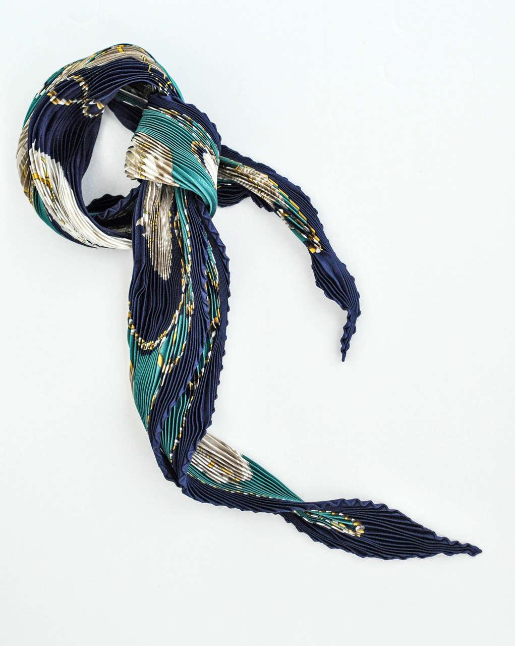 hermes quot brides legeres quot plisse silk scarf at 1stdibs