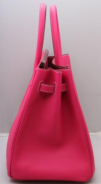 Women's HERMES Birkin Rose Tyrien 35cm For Sale